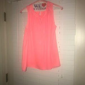 J crew neon pink blouse